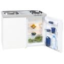 Kompaktküche Single mit Kochplatten und Kühlschrank 80 Liter