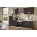 Küchenblock Litra - Dekor Lava Matt / Sonoma-Eiche