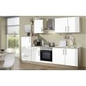 Küchenblock Litra - Dekor Weiß Matt / Sonoma-Eiche