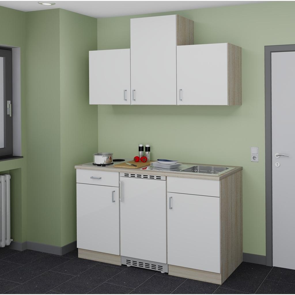 k chenblock single mit e ger ten. Black Bedroom Furniture Sets. Home Design Ideas