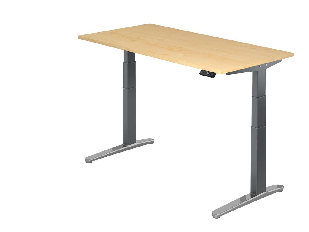 Höhenverstellbarer Schreibtisch Xbhm 120 Cm Breite Von Hammerbacher