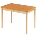 Tisch Holz mit Massivholz Füßen 80x120 cm