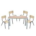 Tischgruppe mit 4 Stühlen