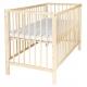 Komplettset Kinderbett Rundstäbe