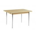 Tisch mit Chromgestell 90x65 cm