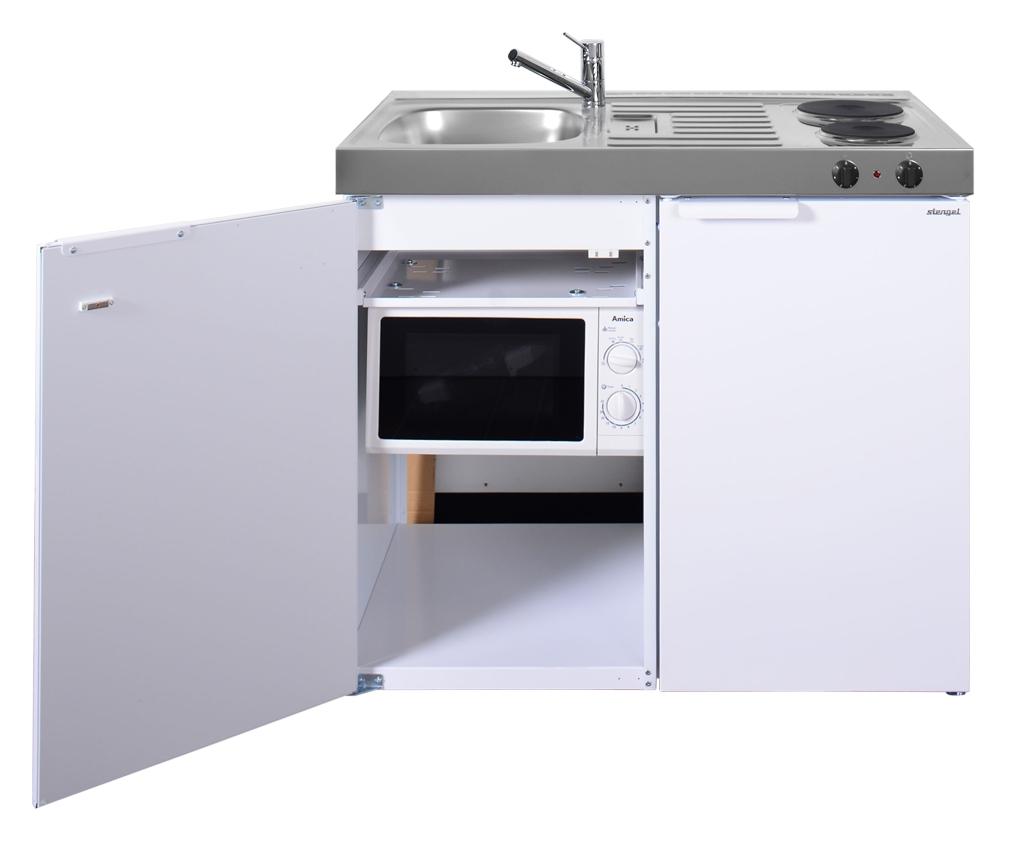 Miniküche 100 Cm Mit Kühlschrank : Mini küche kitchenline mkm 100 bei happy hartmann
