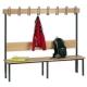 Einseitige Garderobenbank mit Buchenholzleisten